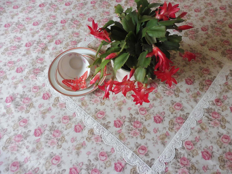 """Скатерть круглая на стол """"Розовый сад"""", Tablecloths, Gera,  Фото №1"""