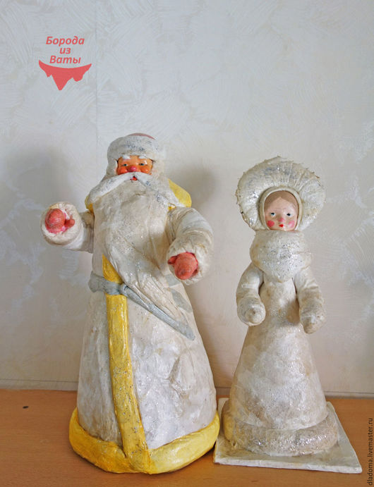 Реставрация. Ярмарка Мастеров - ручная работа. Купить Дед Мороз и Снегурочка. Реставрация. Handmade. Серебряный, советский мороз, винтажный мороз