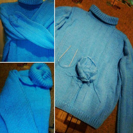 Для мужчин, ручной работы. Ярмарка Мастеров - ручная работа. Купить Мужской свитер. Handmade. Свитер вязаный, свитер из акрила