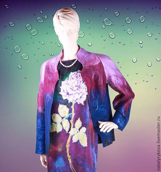 Пиджаки, жакеты ручной работы. Ярмарка Мастеров - ручная работа. Купить Жакет валяный сиреневый к платью.. Handmade. Жакет