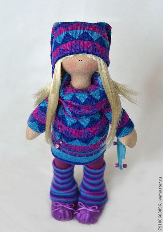 Коллекционные куклы ручной работы. Ярмарка Мастеров - ручная работа. Купить Полина. Handmade. Полина, трикотаж