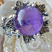 Украшения handmade. Livemaster - original item Ring: Ring with natural amethyst
