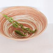 Посуда ручной работы. Ярмарка Мастеров - ручная работа Тарелка из двух глин Глаз песчаной бури. Handmade.