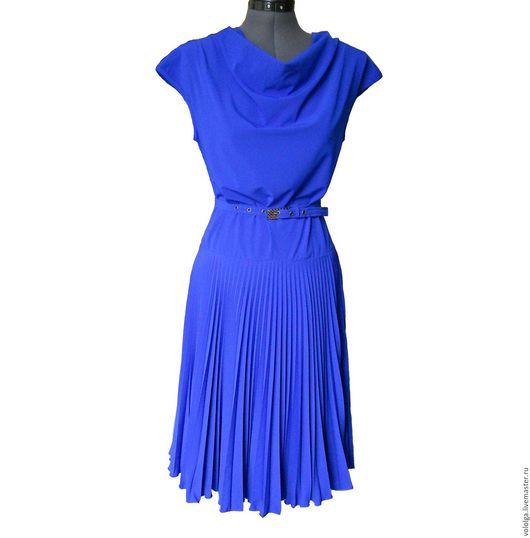 """Платья ручной работы. Ярмарка Мастеров - ручная работа. Купить Платье """"Королевский синий"""". Handmade. Синий, легкое платье, полиэстер"""