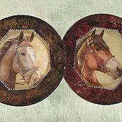 """Для дома и интерьера ручной работы. Ярмарка Мастеров - ручная работа """"Лошади"""" - Декоративные тарелки. Handmade."""