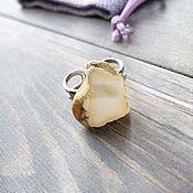 Украшения handmade. Livemaster - original item Amber. Ring with white amber in silver.. Handmade.