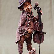 Статуэтки ручной работы. Ярмарка Мастеров - ручная работа Ария ля-минор для кота и виолончели. Handmade.