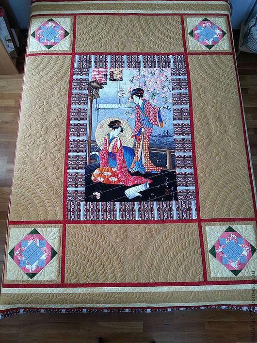 """Текстиль, ковры ручной работы. Ярмарка Мастеров - ручная работа. Купить Покрывало """"Япония"""". Handmade. Пэчворк, покрывало, quilt"""