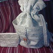 Сумки и аксессуары ручной работы. Ярмарка Мастеров - ручная работа Рюкзачок женский льняной в комплекте с косметичкой. Handmade.