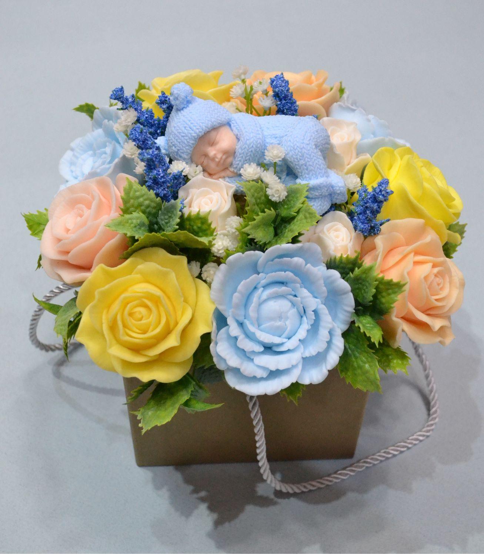 Букет цветов из детского мыла купить, букет купить