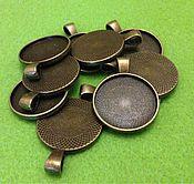 Основа для кулона круглая (бронза)