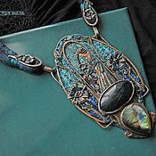 """Украшения ручной работы. Ярмарка Мастеров - ручная работа """"Lalique Echoes"""" колье-кулон. Handmade."""