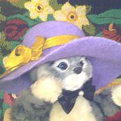 Одежда для кукол ручной работы. Ярмарка Мастеров - ручная работа Шляпки  с полями шерстяные валяные в ассортименте. Handmade.