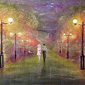"""Картины и панно handmade. Livemaster - original item """"After the rain"""" 50x70 canvas painting. Handmade."""