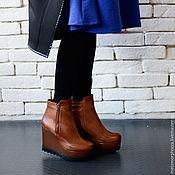 Обувь ручной работы handmade. Livemaster - original item Copy of Copy of Copy of Black Short Boots. Handmade.