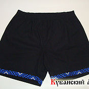 Одежда handmade. Livemaster - original item Men`s shorts with embroidery. Handmade.