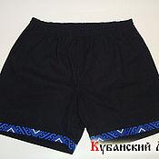 Одежда handmade. Livemaster - original item Men`s shorts with embroidery. Handmade.