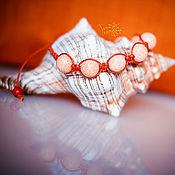 Украшения ручной работы. Ярмарка Мастеров - ручная работа Браслет коралл. Handmade.