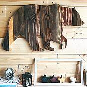Картины и панно manualidades. Livemaster - hecho a mano Bear boards panels large. Handmade.