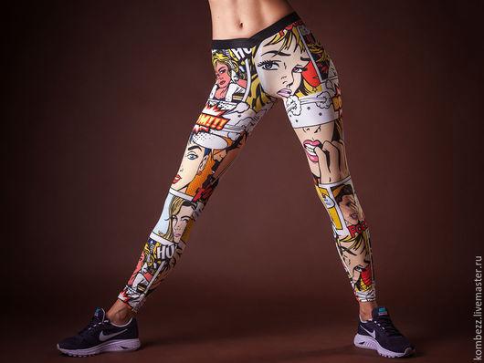 Спортивная одежда ручной работы. Ярмарка Мастеров - ручная работа. Купить WowGirl Leggins. Handmade. Комбинированный, спортивный стиль, спорт