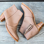 Boots handmade. Livemaster - original item Women`s shoes genuine leather. Leather boots. 41 size. Handmade.