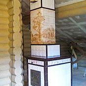 Для дома и интерьера handmade. Livemaster - original item Tiled stove with engraving. Handmade.