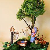 """Кукольные домики ручной работы. Ярмарка Мастеров - ручная работа Миниатюра """"Постирушки"""" 20х20 для кукольного дома, сада. Handmade."""