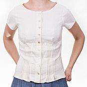Одежда ручной работы. Ярмарка Мастеров - ручная работа Блузка с перламутровыми пуговицами. Handmade.