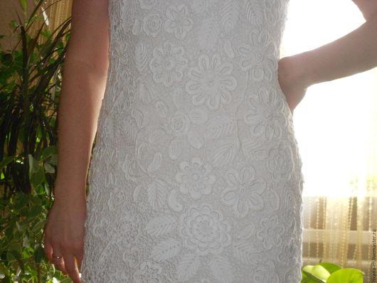 """Платья ручной работы. Ярмарка Мастеров - ручная работа. Купить Платье, связанное крючком """"Кружевница""""  (Ирландское кружево). Handmade. Белый"""
