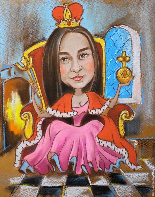 Шарж на заказ по фото `Королева`