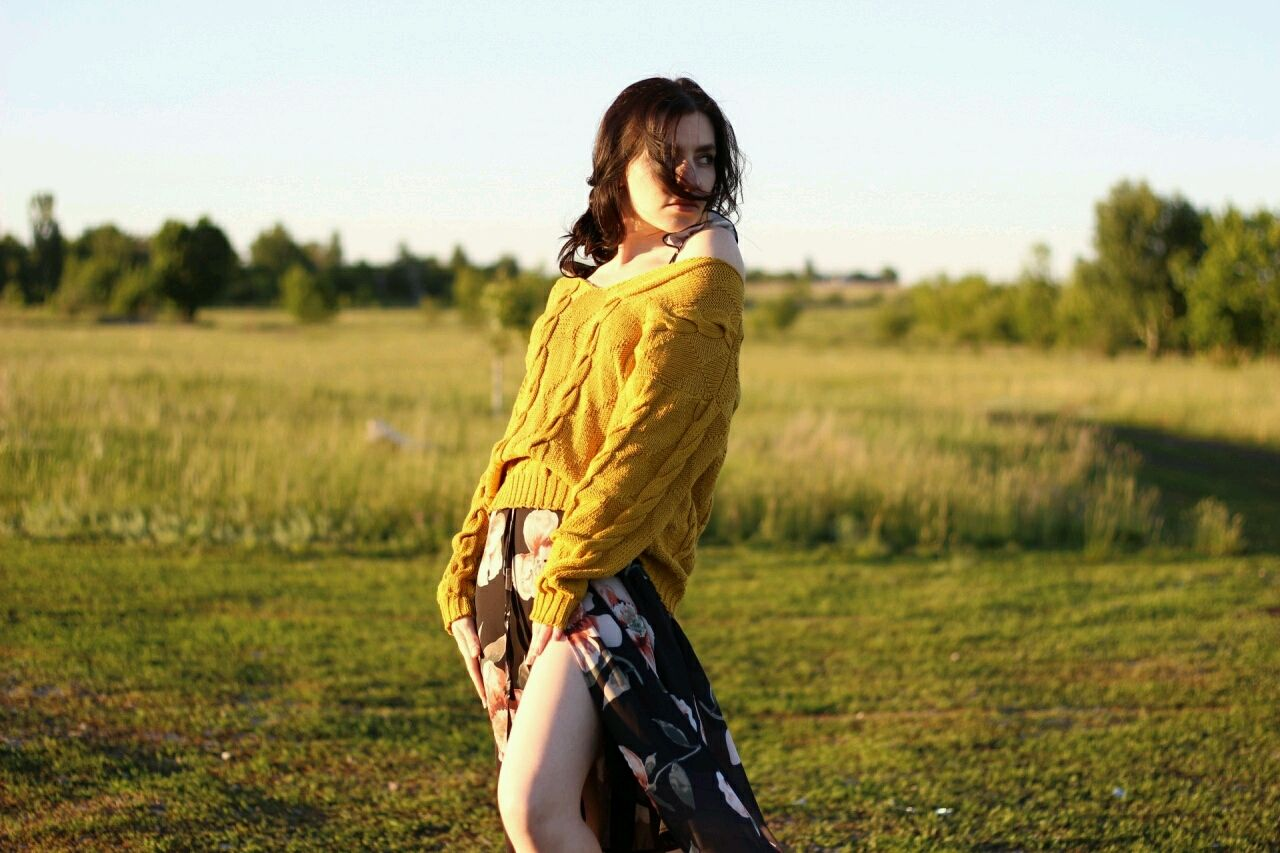 """Хлопковый пуловер """"Золотая горчица"""", Пуловеры, Ртищево,  Фото №1"""