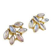Украшения handmade. Livemaster - original item Earrings with a moonstone, large earrings with an adult, earrings as a gift. Handmade.