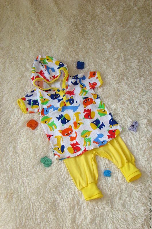 Одежда для мальчиков, ручной работы. Ярмарка Мастеров - ручная работа. Купить Трикотажный костюм на мальчика. Handmade. Комбинированный, для малыша