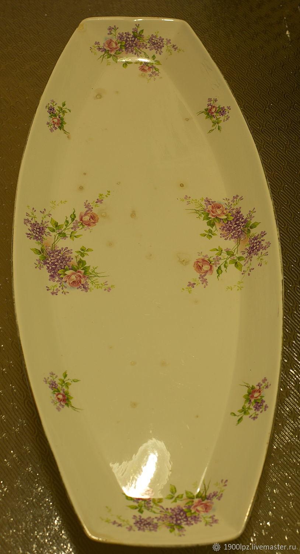 Vintage dish from Mr. Kuznetsov M.. lilacs and roses, Vintage plates, St. Petersburg,  Фото №1