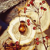 Украшения handmade. Livemaster - original item Cedar wood aroma bottle for essential oils WP47. Handmade.