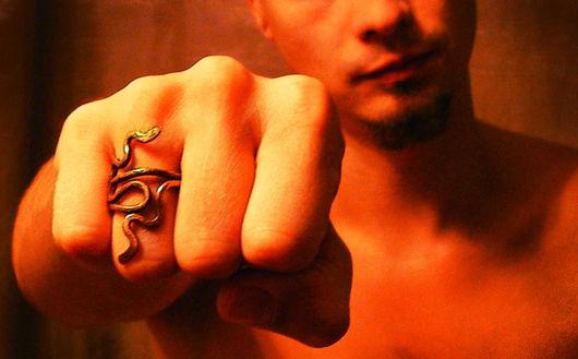 """Украшения для мужчин, ручной работы. Ярмарка Мастеров - ручная работа. Купить Мужское кольцо """"Лабиринт"""". Handmade. Кольцо, медь"""