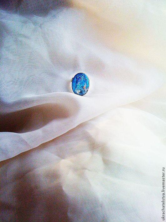 """Комплекты украшений ручной работы. Ярмарка Мастеров - ручная работа. Купить """"планета Земля"""" комплект бижутерии. Handmade. Синий, кольцо"""