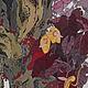бордовый     китайская живопись     японская живопись     картина фантазия     картина волшебство сказка     необычная картина     стиль модерн     украшение гостиной     красивая картина