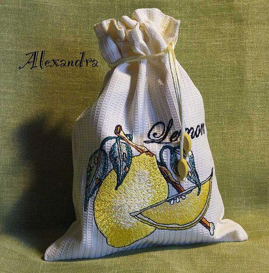 """Кухня ручной работы. Ярмарка Мастеров - ручная работа. Купить Мешочек для хранения """"Лимон"""". Handmade. Мешочек, мешок для лимона"""