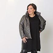 Одежда handmade. Livemaster - original item Quilted short jacket dark grey. Art. 1420. Handmade.