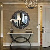 Для дома и интерьера ручной работы. Ярмарка Мастеров - ручная работа Зеркало с элементами состаренного дерева. Handmade.