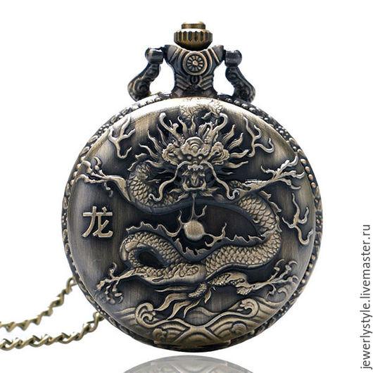 """Часы ручной работы. Ярмарка Мастеров - ручная работа. Купить Часы карманные Retro """"Китайский дракон"""" модель-P405. Handmade."""