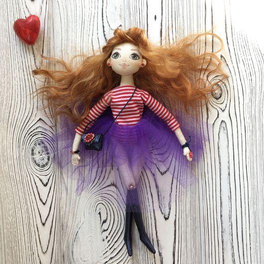 Коллекционные куклы ручной работы. Ярмарка Мастеров - ручная работа. Купить Кукла текстильная. Handmade. Синий, кукла для девочки