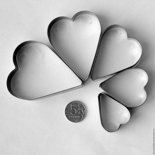 """Другие виды рукоделия ручной работы. Ярмарка Мастеров - ручная работа. Купить Набор """"Сердце Тильда"""" (5 шт.). Резак, каттер, формочка. Handmade."""