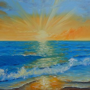 Картины и панно ручной работы. Ярмарка Мастеров - ручная работа Морской пейзаж, картина с морем.. Handmade.