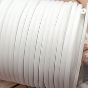 Материалы для творчества handmade. Livemaster - original item Rubber hollow cord 3mm white (3006-B). Handmade.