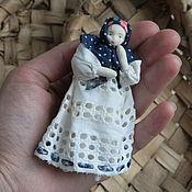 Куклы и игрушки handmade. Livemaster - original item A small doll in the Russian style. Handmade.
