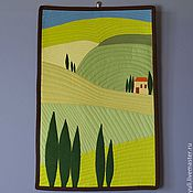 """Картины и панно ручной работы. Ярмарка Мастеров - ручная работа Лоскутное панно """"Тоскана"""". Handmade."""