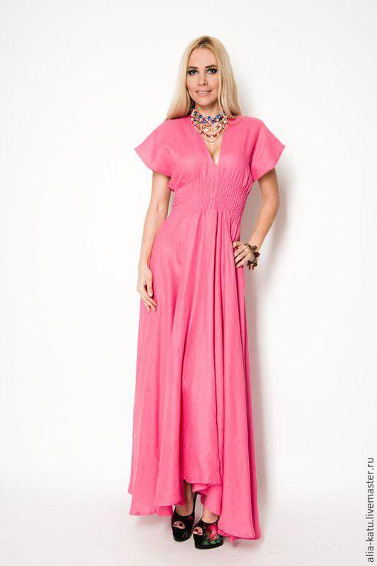 """Платья ручной работы. Ярмарка Мастеров - ручная работа. Купить Платье """"Кимоно"""". Handmade. Розовый, сарафан летний, сарафан"""