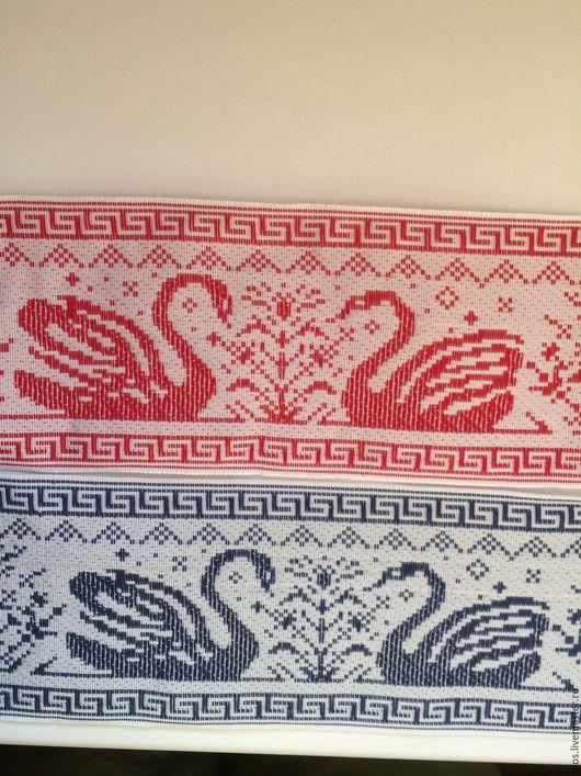 Аппликации, вставки, отделка ручной работы. Ярмарка Мастеров - ручная работа. Купить лента жаккардовая  Два лебедя. Handmade.